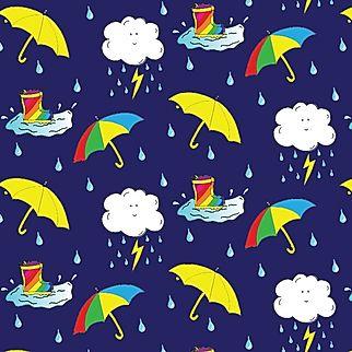 Cleo Fabrics Rainbow Wellies