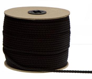 Katoen koord zwart 3mm