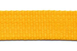 Tassenband 20mm geel