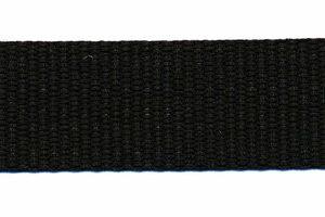 Tassenband 20mm zwart