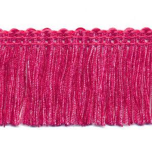Tweekleurig franjeband fuchsia-roze 32mm