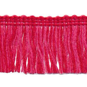 Tweekleurig franjeband rood oud roze
