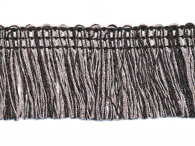 Tweekleurig franjeband zwart grijs 32mm