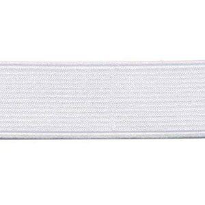 Wit elastiek 25mm