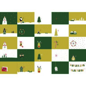 Katoen poplin digital - Advent Calendar