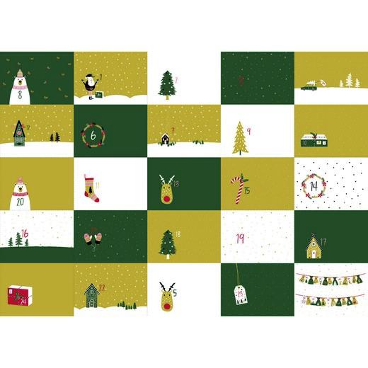 Katoen poplin digital - Advent Calendar