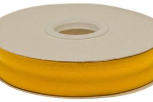 Oker geel gevouwen biaisband 20 mm