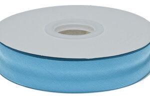 Aqua blauw gevouwen biaisband 20 mm