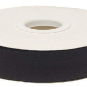 Zwart gevouwen biaisband 20 mm