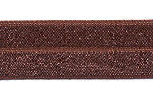 Elastisch Biaisband 20mm bruin
